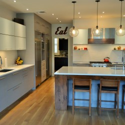 modern, stainless steel, glass, heritage wood, light, airy, spacious, designer, functional